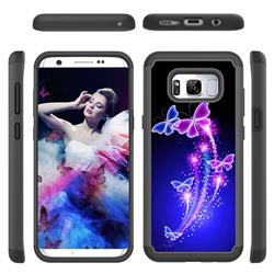 Dancing Butterflies Shock Absorbing Hybrid Defender Rugged Phone Case Cover for Samsung Galaxy S8 Plus S8+