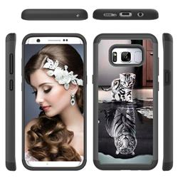 Cat and Tiger Shock Absorbing Hybrid Defender Rugged Phone Case Cover for Samsung Galaxy S8 Plus S8+