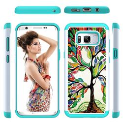 Multicolored Tree Shock Absorbing Hybrid Defender Rugged Phone Case Cover for Samsung Galaxy S8 Plus S8+