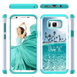 Sea and Tree Shock Absorbing Hybrid Defender Rugged Phone Case Cover for Samsung Galaxy S8 Plus S8+