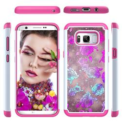 peony Flower Shock Absorbing Hybrid Defender Rugged Phone Case Cover for Samsung Galaxy S8 Plus S8+