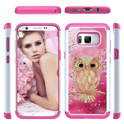 Seashell Cat Shock Absorbing Hybrid Defender Rugged Phone Case Cover for Samsung Galaxy S8 Plus S8+