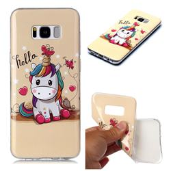 Hello Unicorn Soft TPU Cell Phone Back Cover for Samsung Galaxy S8 Plus S8+