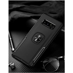 Knight Armor Anti Drop PC + Silicone Invisible Ring Holder Phone Cover for Samsung Galaxy S8 Plus S8+ - Black