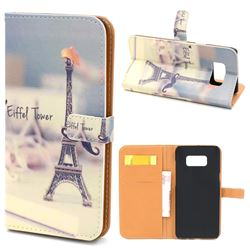 Eiffel Tower Leather Wallet Case for Samsung Galaxy S8+ S8 Plus