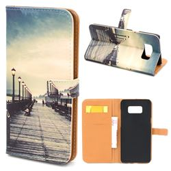 Retro Bridge Leather Wallet Case for Samsung Galaxy S8+ S8 Plus