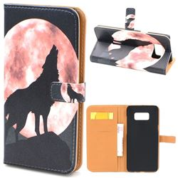 Moon Wolf Leather Wallet Case for Samsung Galaxy S8+ S8 Plus