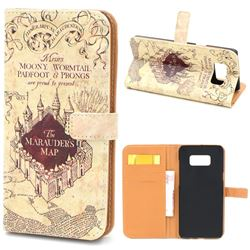 The Marauders Map Leather Wallet Case for Samsung Galaxy S8+ S8 Plus