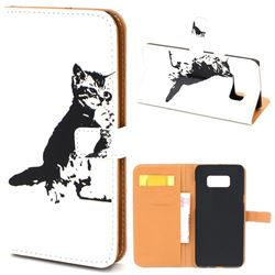 Cute Cat Leather Wallet Case for Samsung Galaxy S8+ S8 Plus