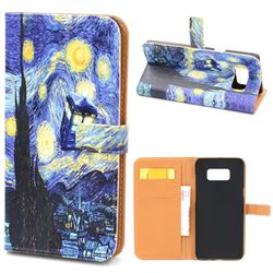 Lighthouse Painting Leather Wallet Case for Samsung Galaxy S8+ S8 Plus