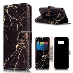 Black Gold Marble PU Leather Wallet Case for Samsung Galaxy S8 Plus S8+
