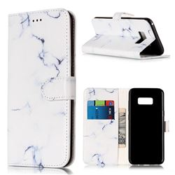 Soft White Marble PU Leather Wallet Case for Samsung Galaxy S8 Plus S8+