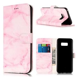 Pink Marble PU Leather Wallet Case for Samsung Galaxy S8 Plus S8+