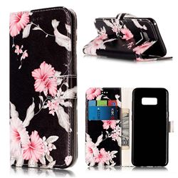 Azalea Flower PU Leather Wallet Case for Samsung Galaxy S8 Plus S8+