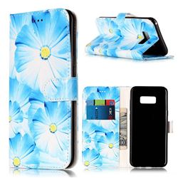 Orchid Flower PU Leather Wallet Case for Samsung Galaxy S8 Plus S8+