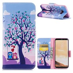 Tree and Owls Leather Wallet Case for Samsung Galaxy S8 Plus S8+