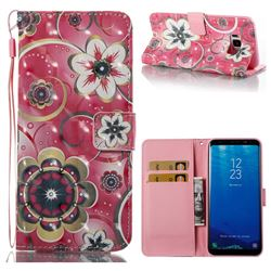 Tulip Flower 3D Painted Leather Wallet Case for Samsung Galaxy S8 Plus S8+