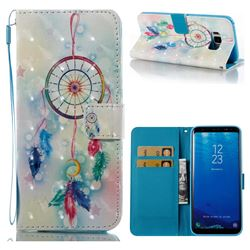 Feather Wind Chimes 3D Painted Leather Wallet Case for Samsung Galaxy S8 Plus S8+
