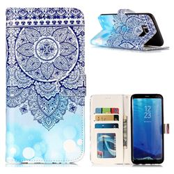 Totem Flower 3D Relief Oil PU Leather Wallet Case for Samsung Galaxy S8 Plus S8+