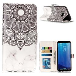 Marble Mandala 3D Relief Oil PU Leather Wallet Case for Samsung Galaxy S8 Plus S8+