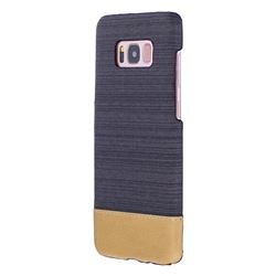 Canvas Cloth Coated Plastic Back Cover for Samsung Galaxy S8 Plus S8+ - Black