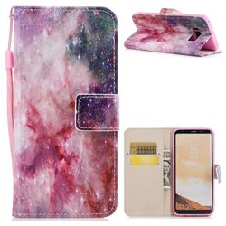 Cosmic Stars PU Leather Wallet Case for Samsung Galaxy S8 Plus S8+