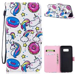 Candy Unicorn PU Leather Wallet Case for Samsung Galaxy S8 Plus S8+