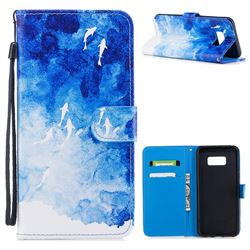 Dolphin Sea PU Leather Wallet Case for Samsung Galaxy S8 Plus S8+