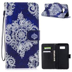 Folk Custom PU Leather Wallet Case for Samsung Galaxy S8 Plus S8+