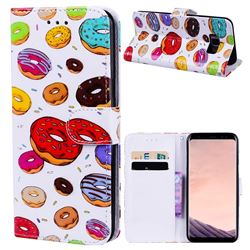 Doughnut 3D Relief Oil PU Leather Wallet Case for Samsung Galaxy S8 Plus S8+