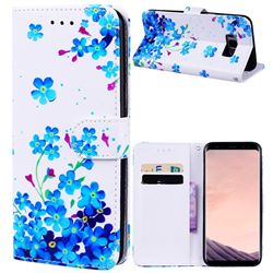 Star Flower 3D Relief Oil PU Leather Wallet Case for Samsung Galaxy S8 Plus S8+