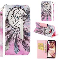 Angel Monternet Big Metal Buckle PU Leather Wallet Phone Case for Samsung Galaxy S8 Plus S8+