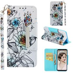 Fotus Flower Big Metal Buckle PU Leather Wallet Phone Case for Samsung Galaxy S8 Plus S8+