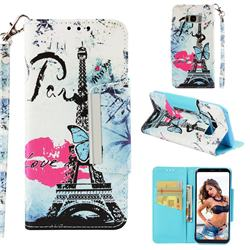Lip Tower Big Metal Buckle PU Leather Wallet Phone Case for Samsung Galaxy S8 Plus S8+