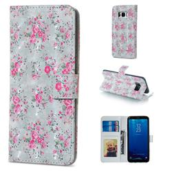 Roses Flower 3D Painted Leather Phone Wallet Case for Samsung Galaxy S8 Plus S8+