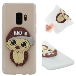 Bad Boy Owl Soft 3D Silicone Case for Samsung Galaxy S9 - Translucent White