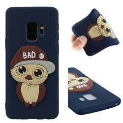 Bad Boy Owl Soft 3D Silicone Case for Samsung Galaxy S9 - Navy