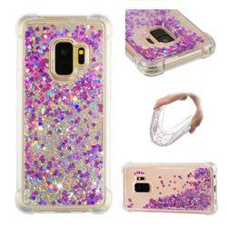 Dynamic Liquid Glitter Sand Quicksand Star TPU Case for Samsung Galaxy S9 - Rose