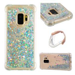 Dynamic Liquid Glitter Sand Quicksand Star TPU Case for Samsung Galaxy S9 - Silver