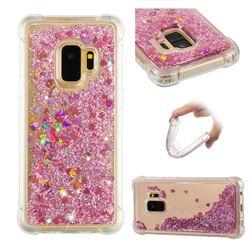 Dynamic Liquid Glitter Sand Quicksand Star TPU Case for Samsung Galaxy S9 - Diamond Rose