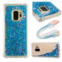 Dynamic Liquid Glitter Sand Quicksand TPU Case for Samsung Galaxy S9 - Blue Love Heart