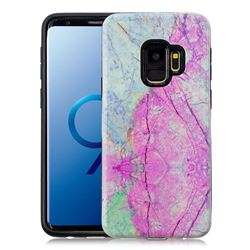 Pink Marble Pattern 2 in 1 PC + TPU Glossy Embossed Back Cover for Samsung Galaxy S9