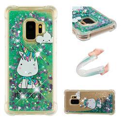 Tiny Unicorn Dynamic Liquid Glitter Sand Quicksand Star TPU Case for Samsung Galaxy S9