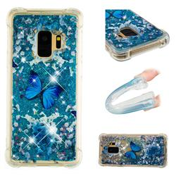 Flower Butterfly Dynamic Liquid Glitter Sand Quicksand Star TPU Case for Samsung Galaxy S9