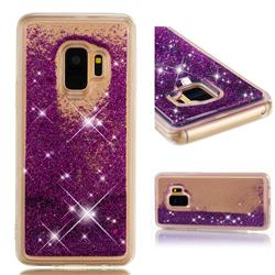 Dynamic Liquid Glitter Quicksand Sequins TPU Phone Case for Samsung Galaxy S9 - Purple