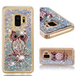 Seashell Owl Dynamic Liquid Glitter Quicksand Soft TPU Case for Samsung Galaxy S9