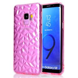 Diamond Pattern Shining Soft TPU Phone Back Cover for Samsung Galaxy S9 - Pink