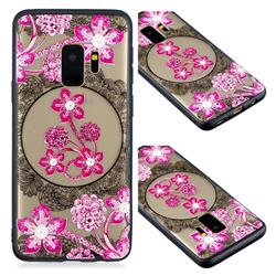 Daffodil Lace Diamond Flower Soft TPU Back Cover for Samsung Galaxy S9