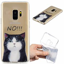 Cat Say No Clear Varnish Soft Phone Back Cover for Samsung Galaxy S9