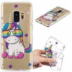 Glasses Unicorn Clear Varnish Soft Phone Back Cover for Samsung Galaxy S9